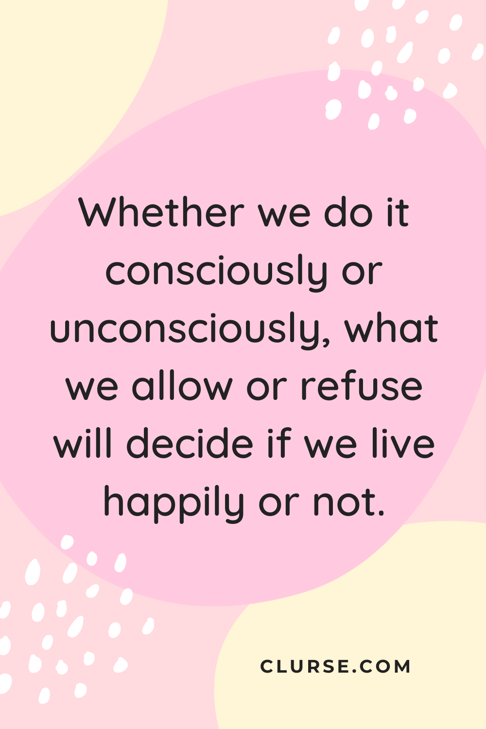 Happiness decision quote