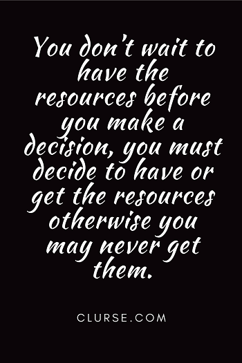 Decide first