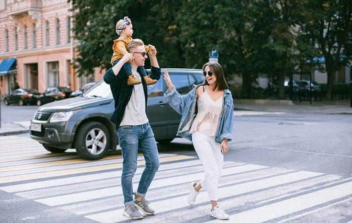 Successful family -- Man, woman and child