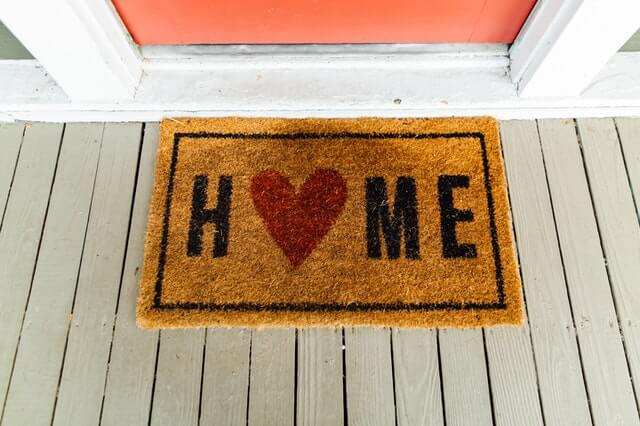 Carpet at home by the front door